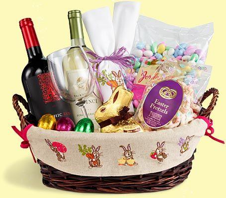 Grown Up Tastes Easter Easter Gift Baskets Easter Hamper Ideas
