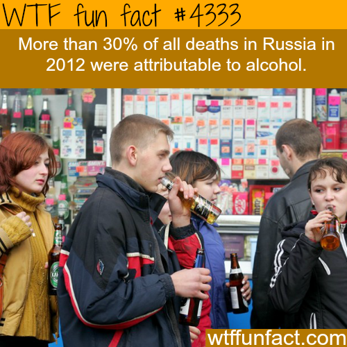 Russia and alcohol -  WTF fun facts