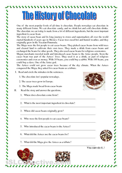 49+ Reading text worksheets Images
