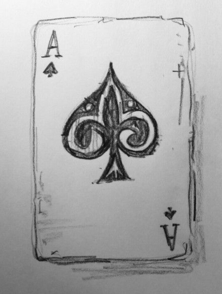 Possibly The Easiest Yet Classy Drawing Of Playing Cards Cool Drawings Easy Drawings Drawings