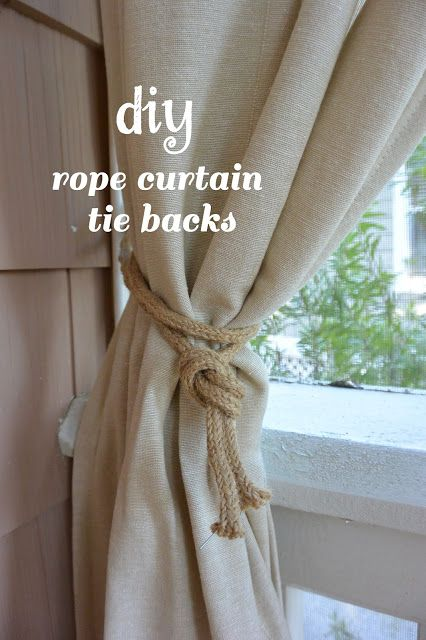10 Spring Outfit Ideas Rope Curtain Tie Back Curtains Curtain