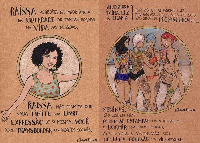 Desenhos de Carol Rossetti