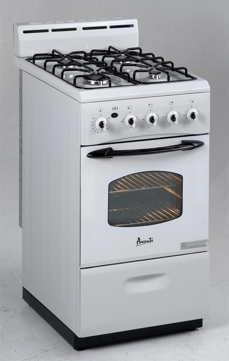 Small Gas Stoves For Apartments Avanti 24 Gas Range White Model G2404cw Compact Kitchen Appliances Small Gas Stove Gas Range
