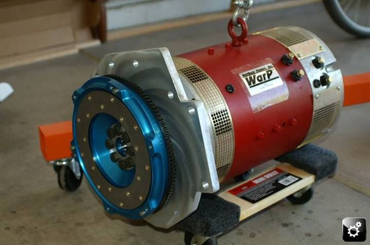 Electric Motor For Car: Lighter Flywheel To The New Hub Mounted On A EV Motor