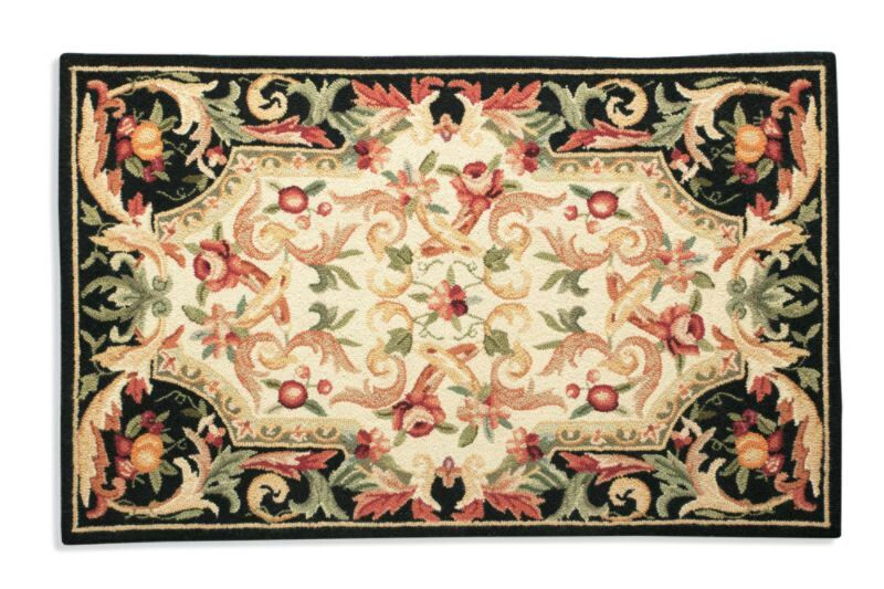 Aubusson fruit area rug in all over print from Frontgate ...