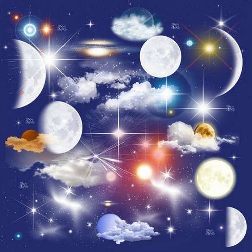 Moon Stars Clouds On A Transparent Background Free Clipart Psd Night Sky Sky Art Clouds Clip Art