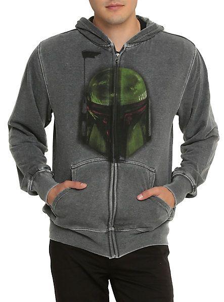 Star Wars Boba Fett Mineral Wash Hoodie Hot Topic Men S Jackets