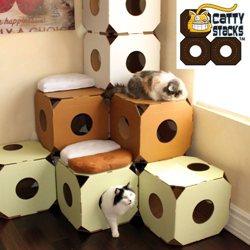 7 Best Cat Towers And Cat Houses Reviewed Cardboard Cat House Cat House Diy Cat Diy