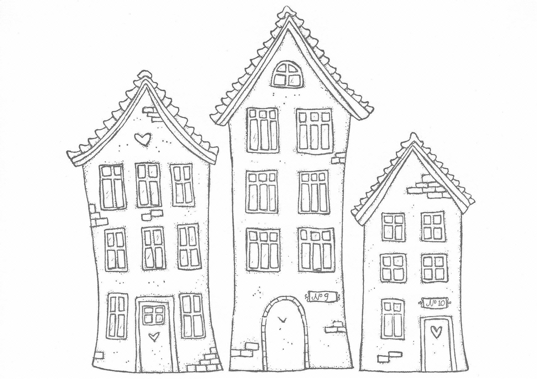Really Cute Houses Print Them Out Haus Malen Ausmalbilder Mandala Bilder