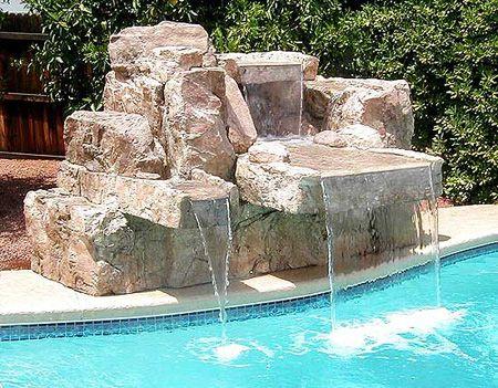Cascada para piscina cascadas para piscina pinterest for Cascadas de piscinas