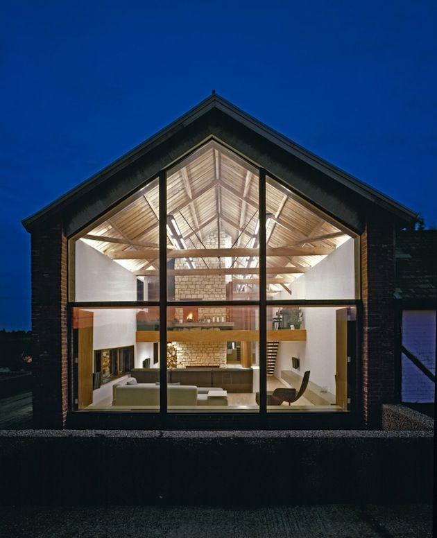 Casa moderna acristalada - Casas de madera y mas com ...