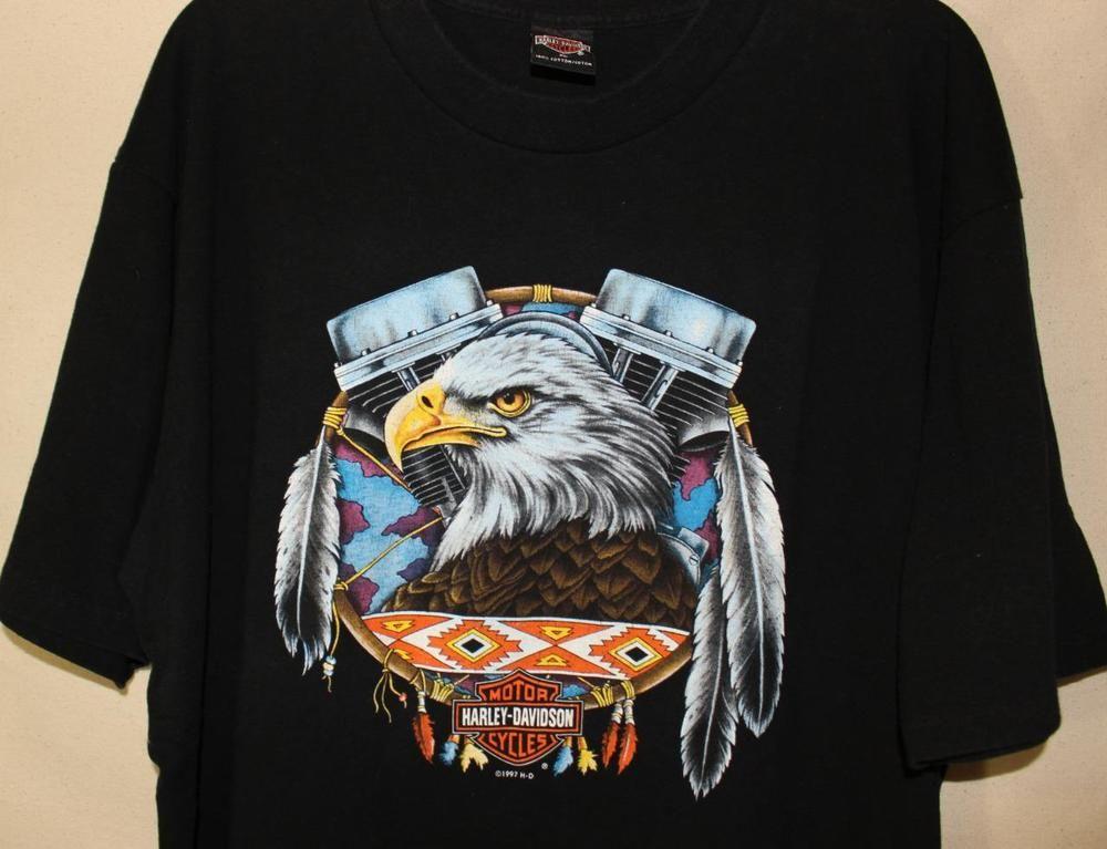 8564006d Vtg harley davidson mens t shirt motorcycle American Eagle Gator HD Florida  XL #HarleyDavidson #TShirt