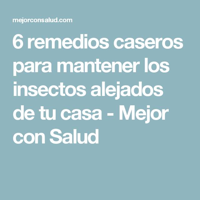 6 remedios caseros para mantener los insectos alejados de tu casa - Mejor con Salud