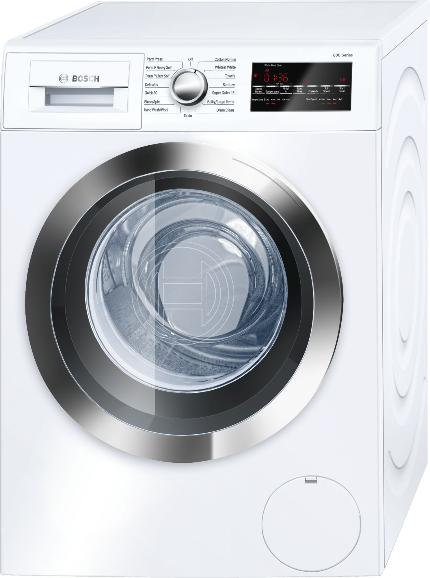 Bosch 800 Series pact Front Load Washer White WAT UC Bosch