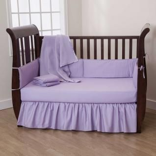 Basic Solid Color Crib Bedding Sets For Those Seeking Simplicity Durability And Affordabili Lavender Crib Bedding Crib Bedding Sets Baby Girl Nursery Bedding