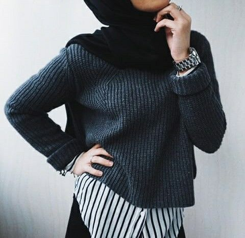 sweater+shirt combo