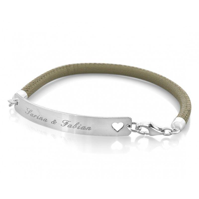 Pin auf Armbänder aus 925 Silber oder Leder mit Gravur