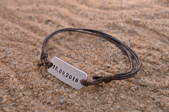 December 5th Is The Last Day For Christmas Orders Personalized Band Bracelet Annivers Bracelets For Boyfriend Boyfriend Gifts Boyfriend Anniversary Gifts