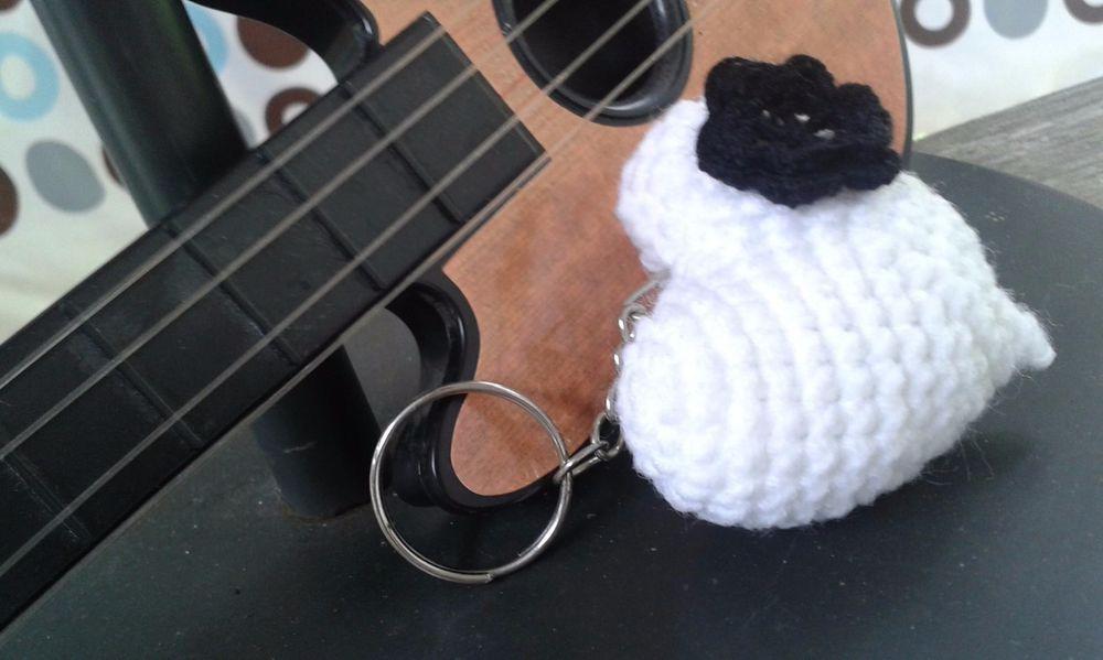 1 PC  lovely Love Crochet Stuffed Handmade Key Chain Key Ring For Souvenir gift #Handmade