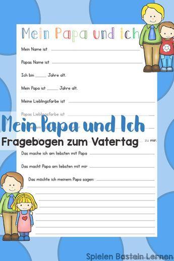 Photo of Mein Papa und Ich: Fragebogen zum Vatertag – Spielen Basteln Lernen