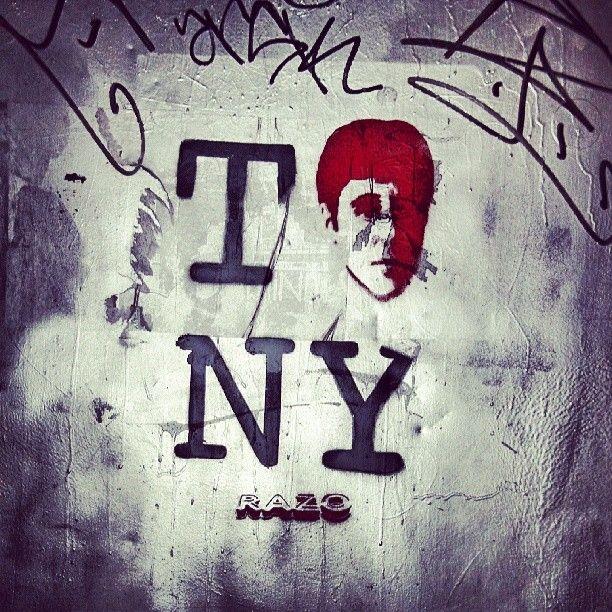 Scarface <3 NY #tonymontana #scarface #graffiti #art #nyc #konyh