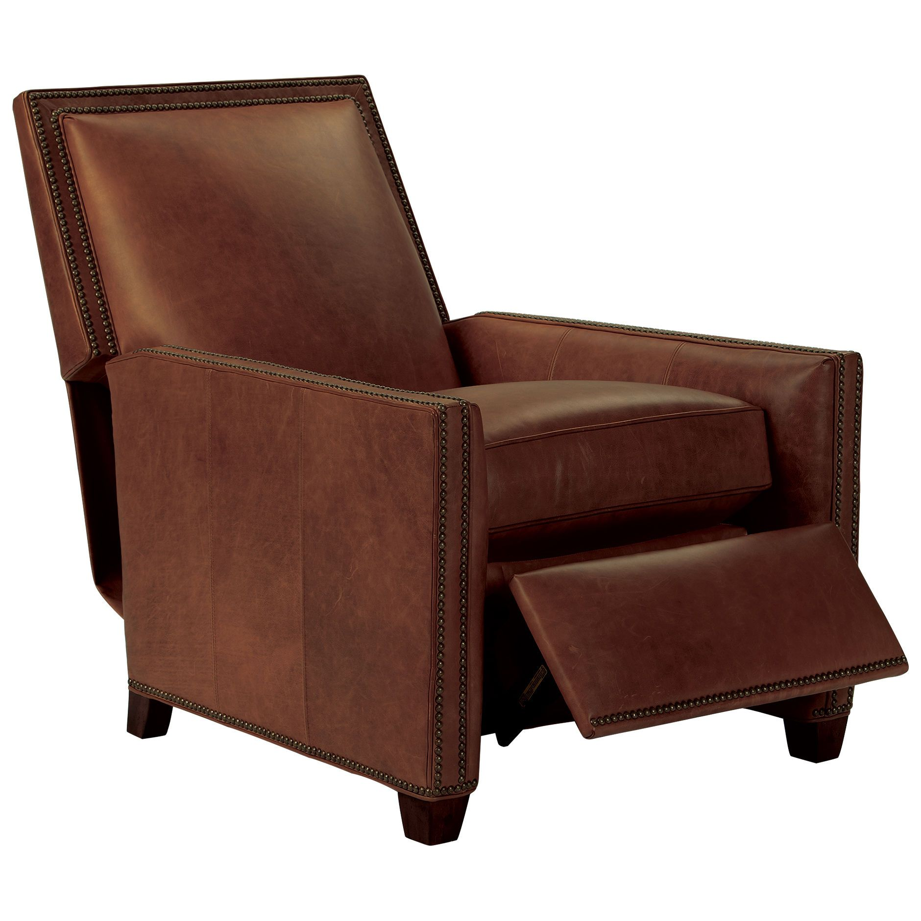 Astonishing Randall Leather Recliner Old English Saddle Ethan Allen Short Links Chair Design For Home Short Linksinfo