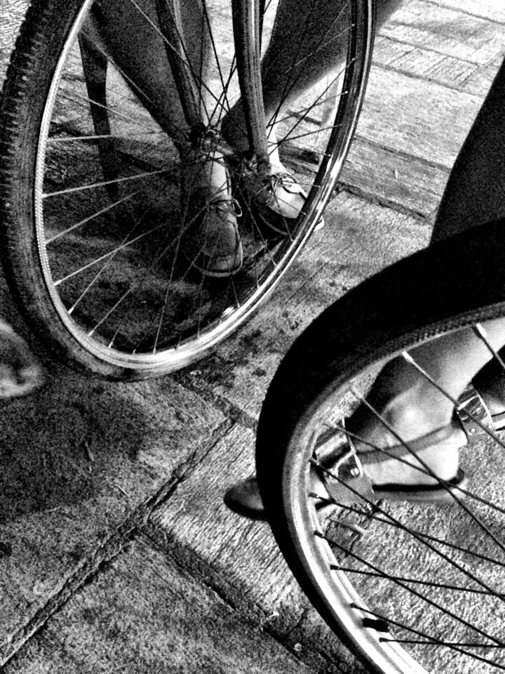 Nafplion Greece, Bicycle Wheel Table  Follow me on twitter @Scotch_Photo or check out my portfolio on facebook.com/ScotchStudioPhoto
