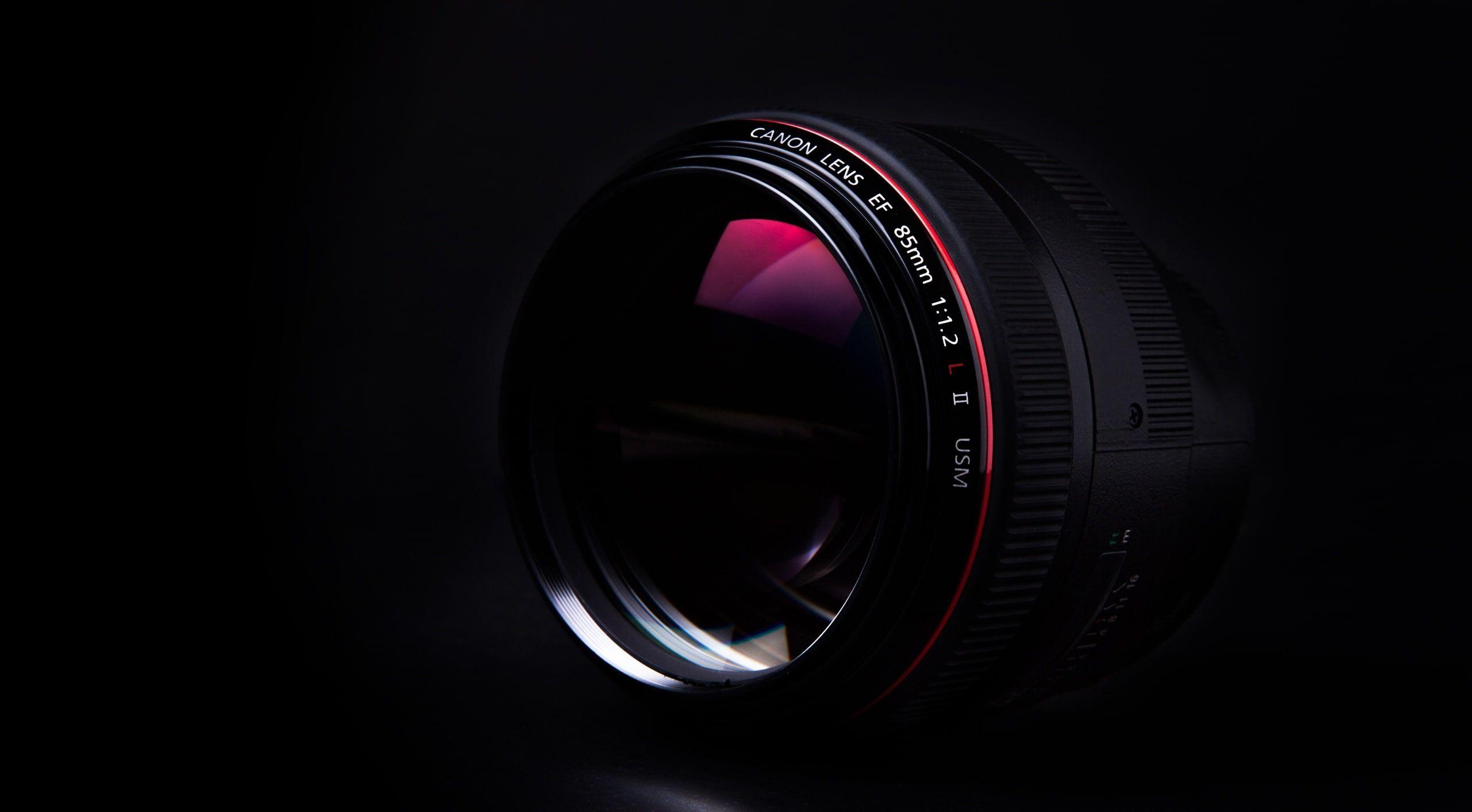 Canon 85mm 12l ii black dslr camera lens computers