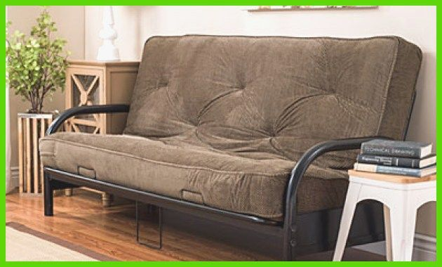 Lots Day Bed Black Futon Frame With Check Plush Mattress Set