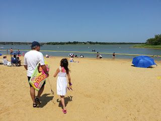 Dfw Kids Fun Sandy Beach At Little Elm Park Lake Lewisville