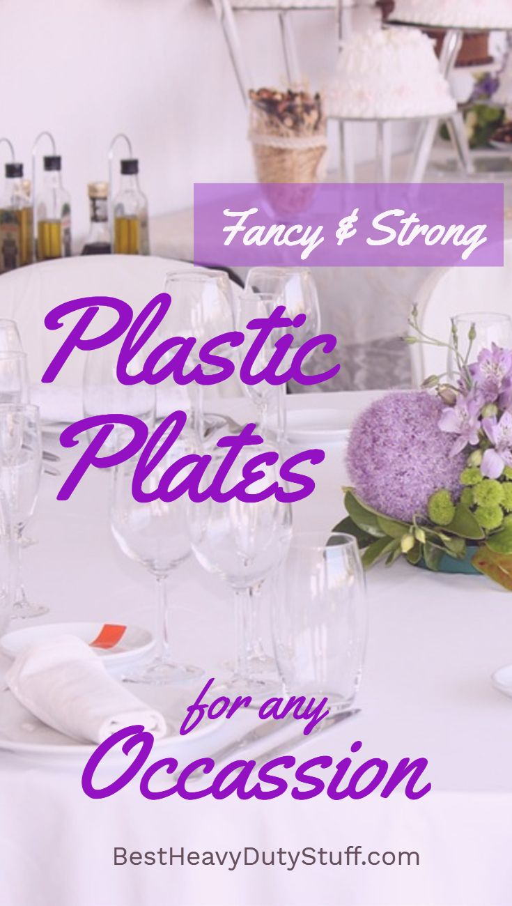 Elegant & fancy yet strong plastic plates that look real. Great for ...