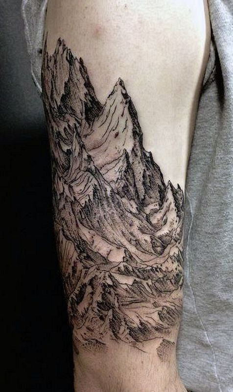 Epic And Elegant Mountain Tatoo 13 татуировки Pinterest