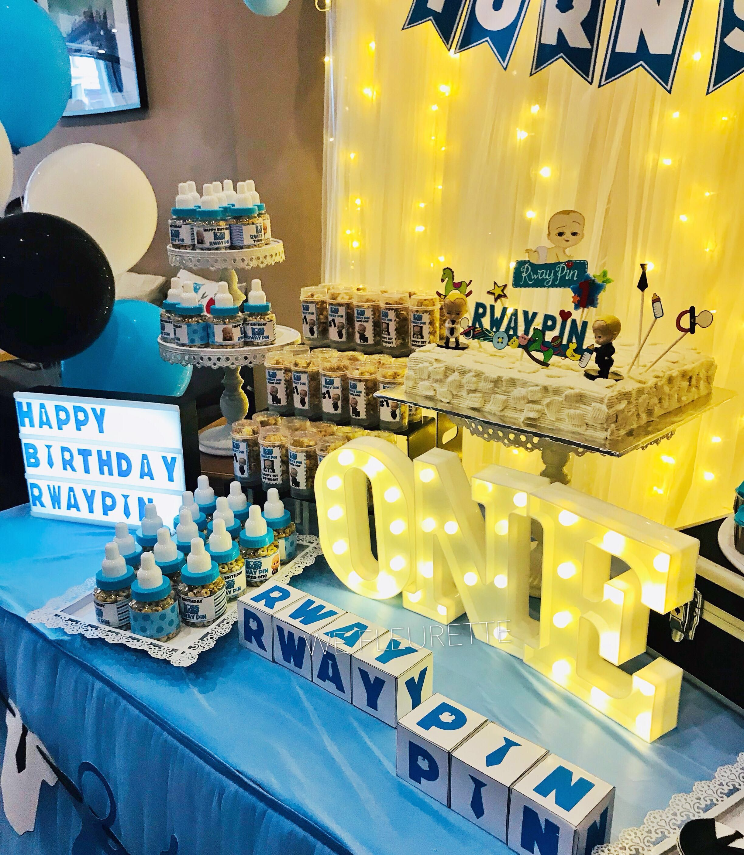 Birthday Decoration Dessert Table Boss Baby Theme On