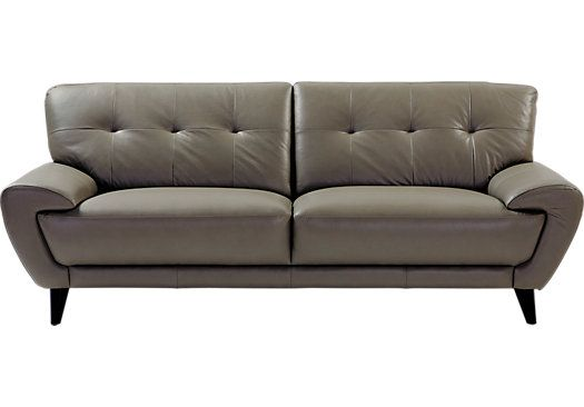 shop for a cindy crawford home midtown east taupe leather sofa at rooms to go