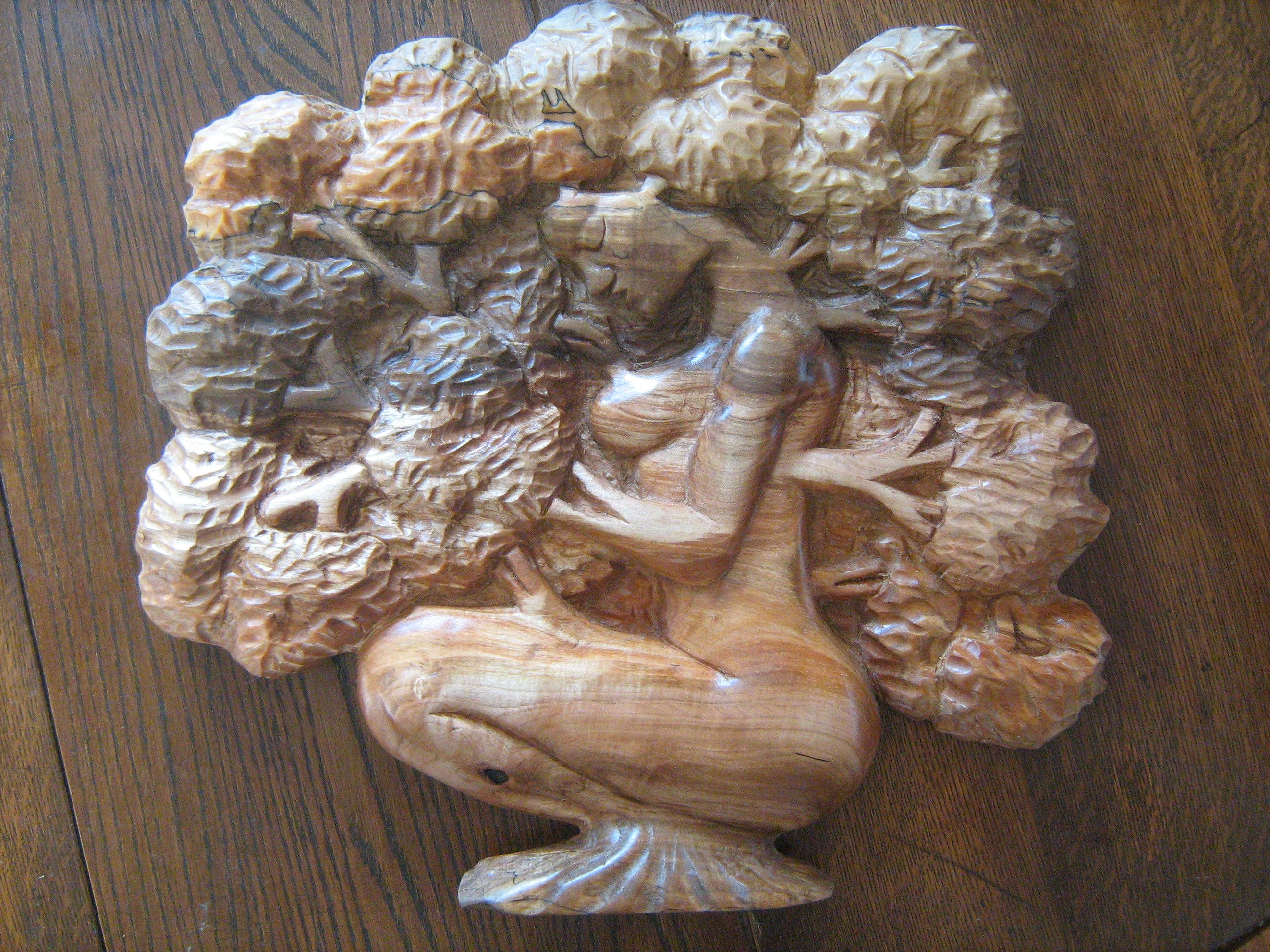 Spalted maple relief mother nature tree of life