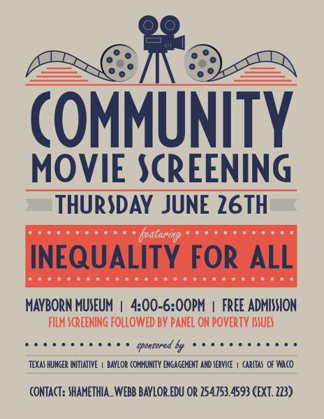 genre analysis of movie screening posters community event flyer