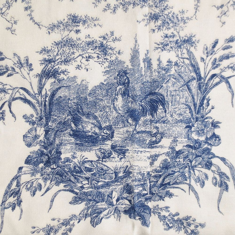 Waverly Fabric La Petite Ferme Blue Beige French Country Toile 2 5 Yds Cotton Toile Pattern Waverly Fabric French Country Bathroom
