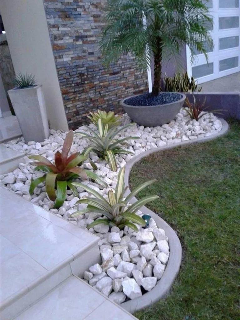 Front Yard Low Maintenance Rock Garden