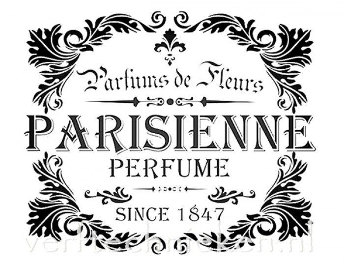 shabby chic sjabloon parisienne perfume leaves printables pinterest transfert imprimables. Black Bedroom Furniture Sets. Home Design Ideas