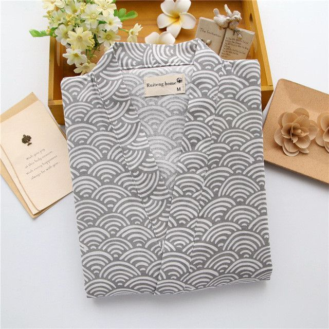 6314223655 Spring 100% cotton short sleeves men pyjamas sleepwear Japanese kimono  pajamas sets simple shorts homewear bathrobe man bedgown