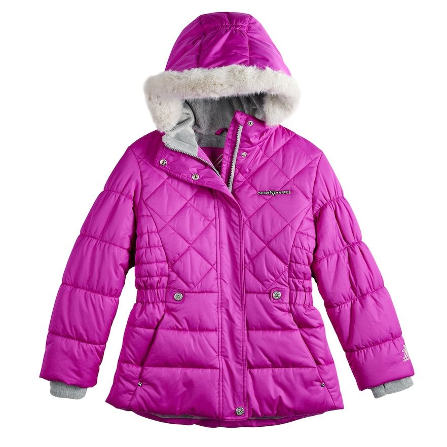 cd7ddc6dbc09 ZeroXposur Girls 7-16 Zero Xposure Lexy Faux-Fur Trim Heavyweight ...