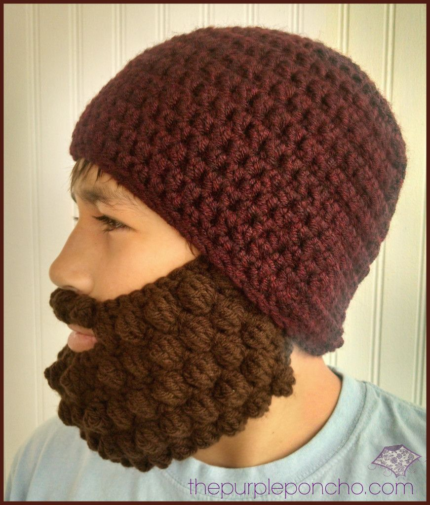 Crochet Bobble Beard Review – Free Pattern | Gorros, Gorro tejido y ...