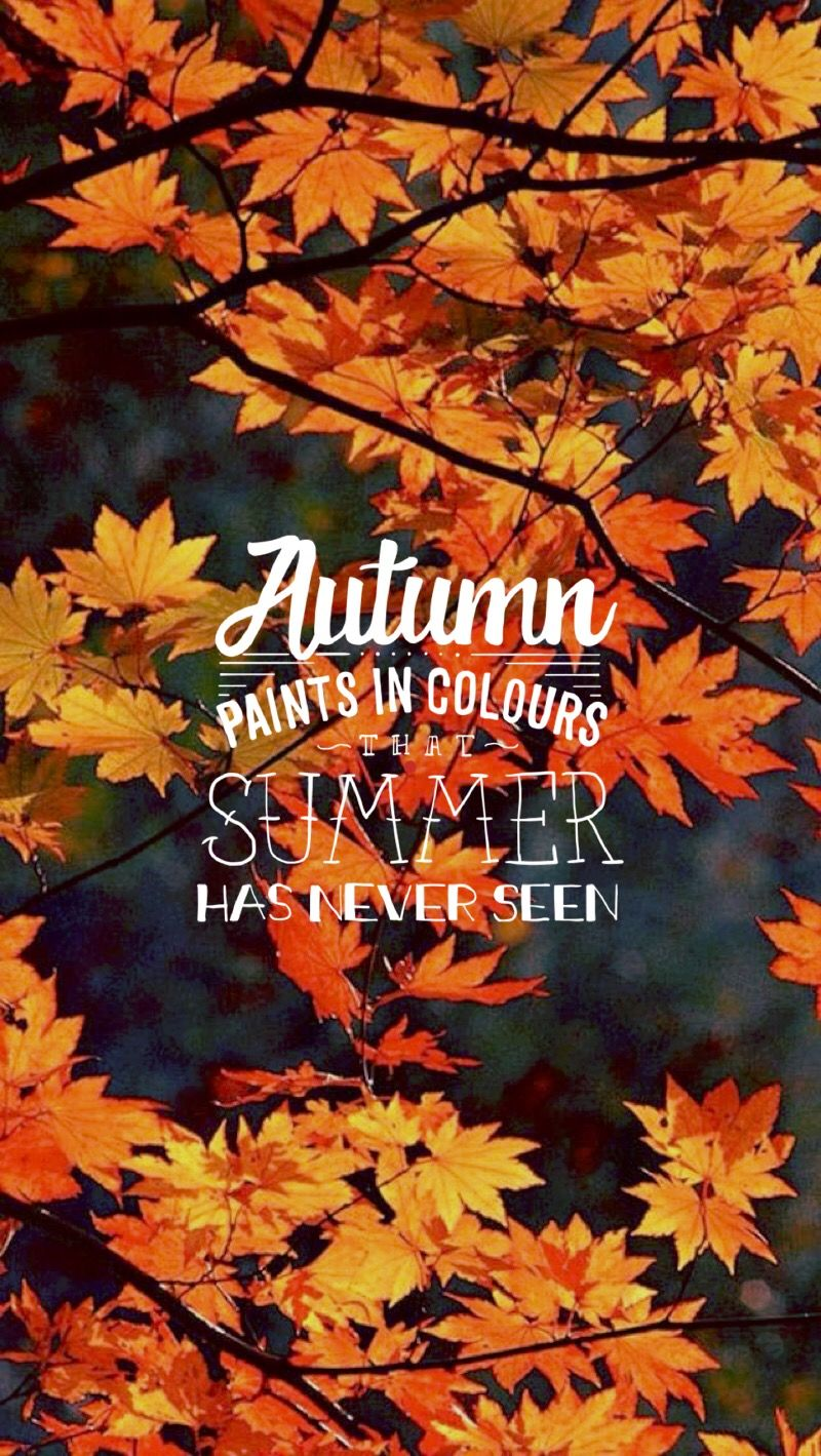 Autumn quote iphone wallpaper season Iphone