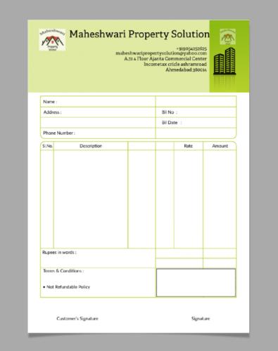 Construction Bill Book Design Book Design Templates Invoice Design Template Book Design