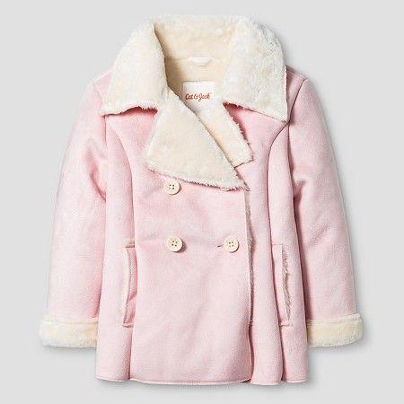Baby Girls' Shearling Pea Coat Baby Cat & Jack™ - Pink 12M ...