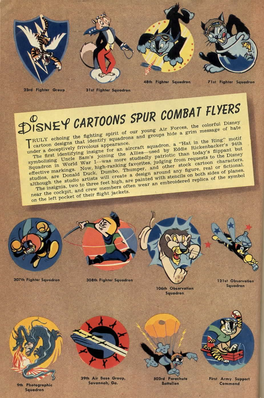 Walt Disney Designed Emblems Wwii Planes And