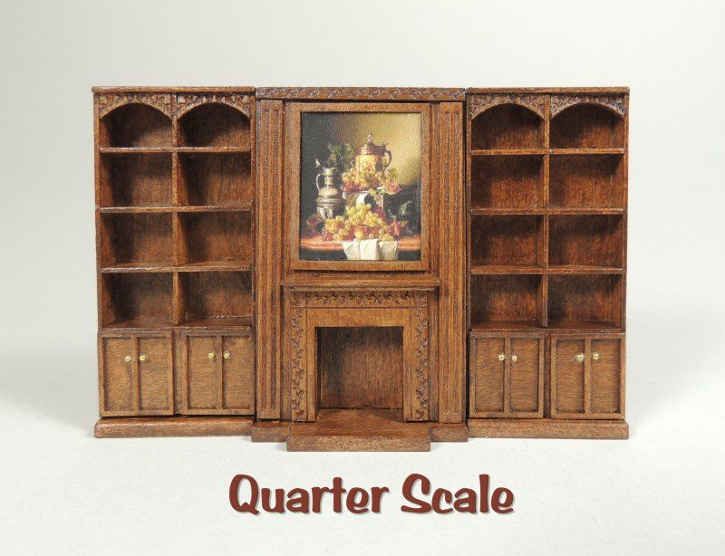 Connors Study Wall Unit Kit [qs1021] : Cynthia Howe Miniatures ...