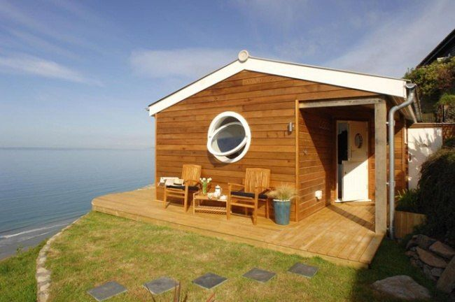 Dream House In An Area Of 30 Sq M By The Sea Small Beach Houses Small House Design Beautiful Beach Houses