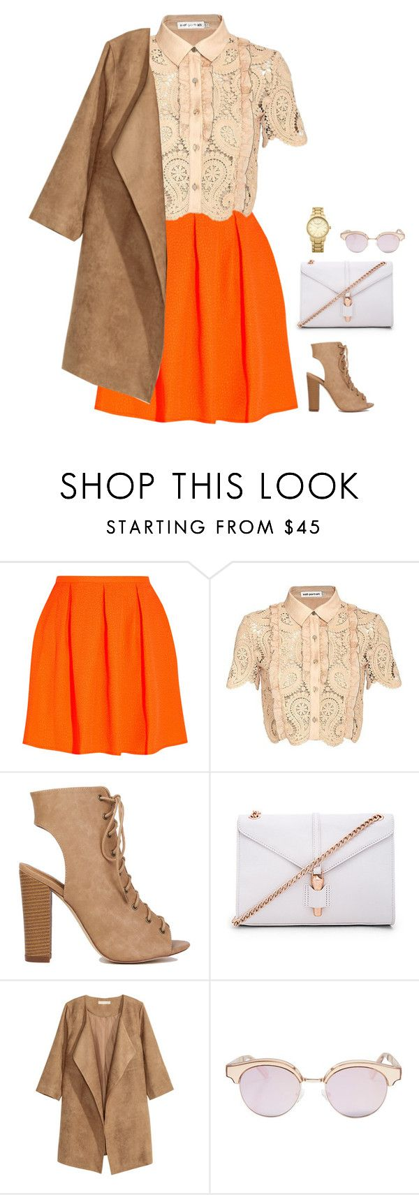 """""""#2835"""" by azaliyan ❤ liked on Polyvore featuring Opening Ceremony, self-portrait, Foley + Corinna, Le Specs and Topshop"""