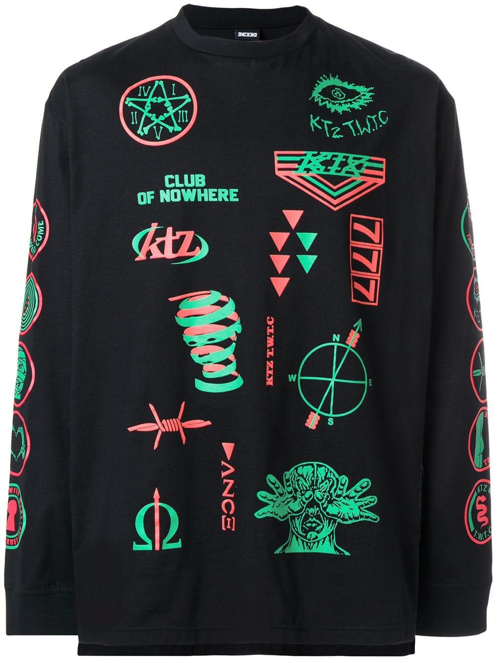 scout patch print T-shirt - BlackKTZ scout patch print T-shirt - Black